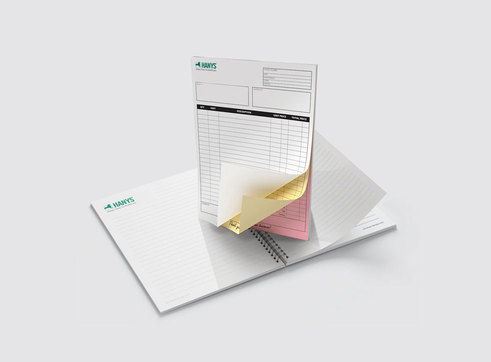 NCR/carbonless forms and notepads